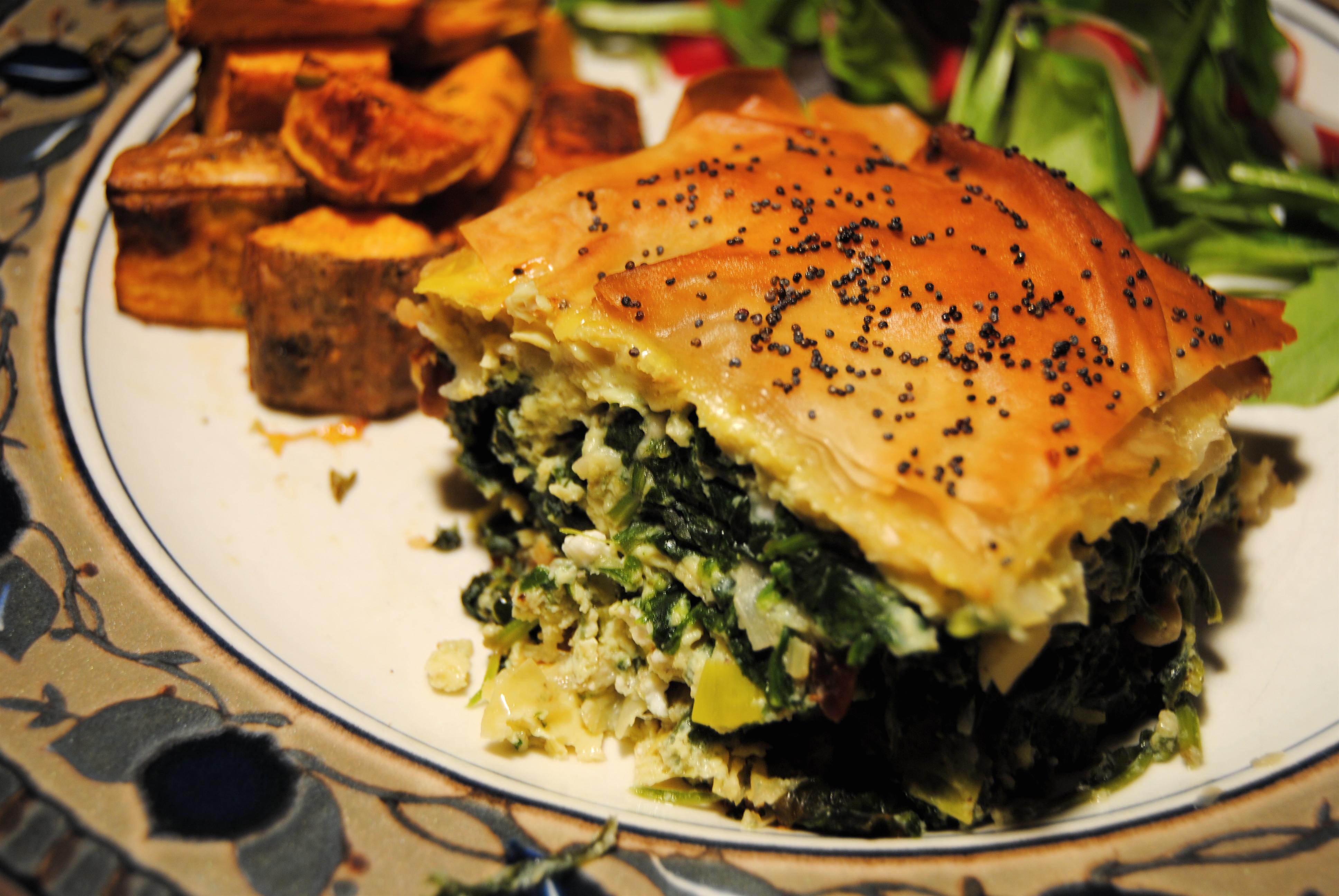 Broccoli Spinach Amp Wild Rice Phyllo Pie Recipe Easily