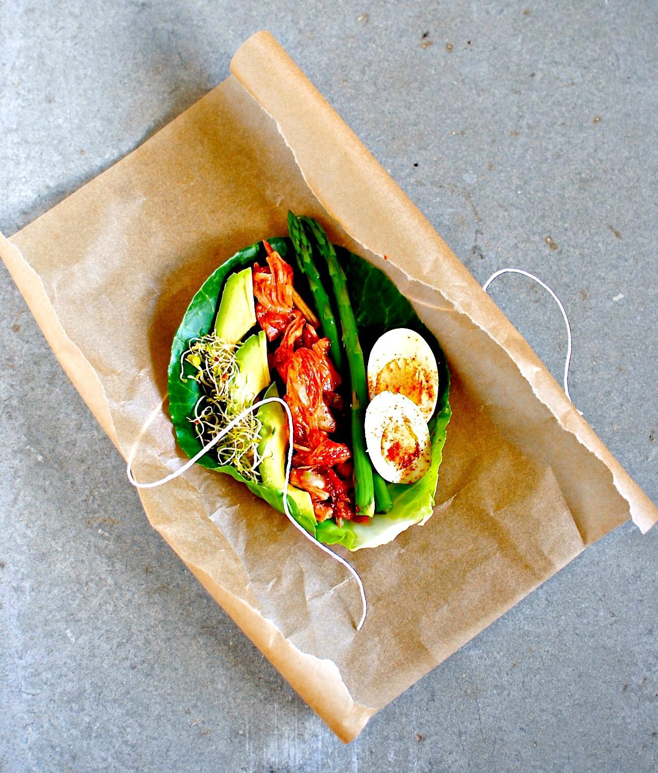 Kimchi And Avocado Wraps Grain Free