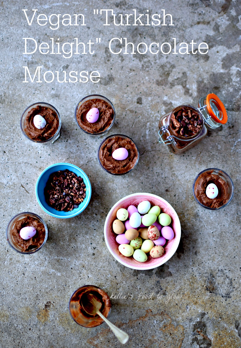 "Try this easy, foolproof ""aquafaba"" recipe to make the fluffiest, healthiest, creamiest, craziest vegan chocolate mousse ever. Options for different flavourings, but we think rose water is perfect for Easter. This is a perfect recipe for those with egg or dairy allergies. And kids love it!"