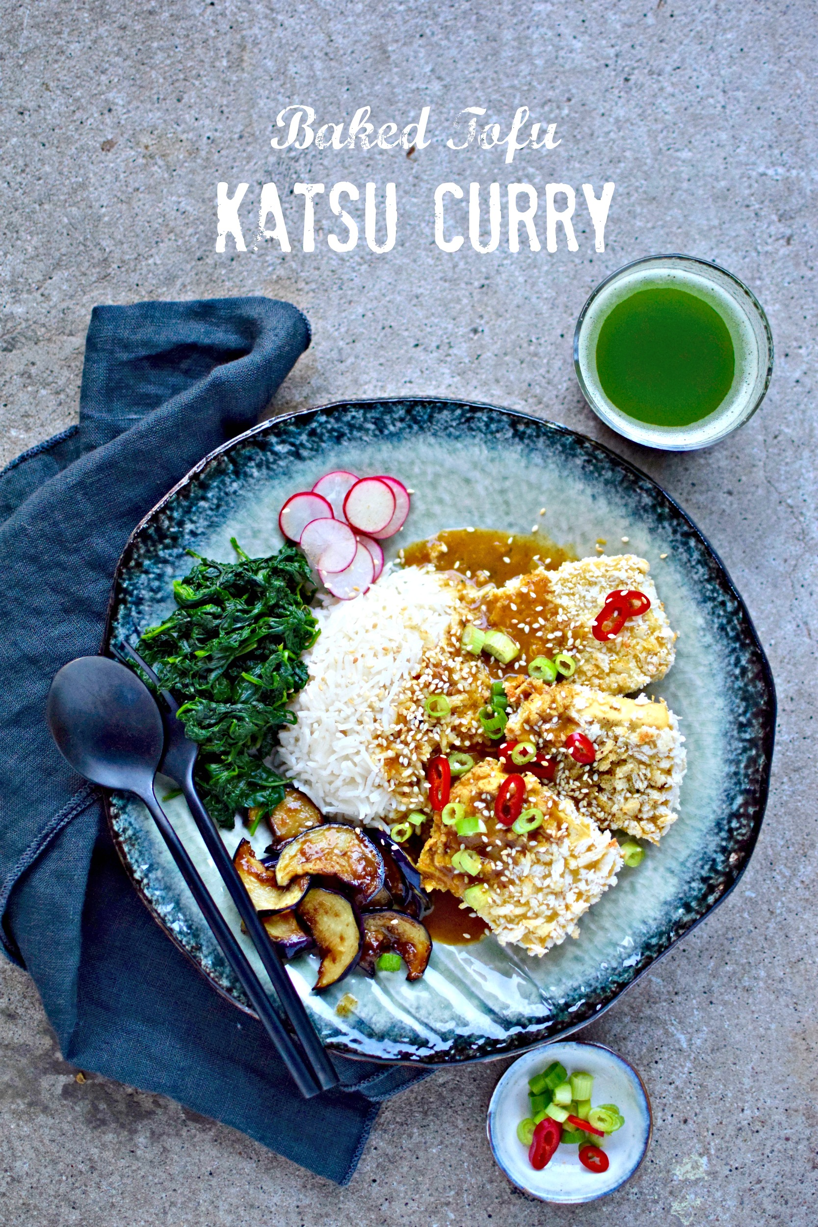 How To Make Crispy Baked Tofu Katsu Curry Vegan Recipe Food To Glow