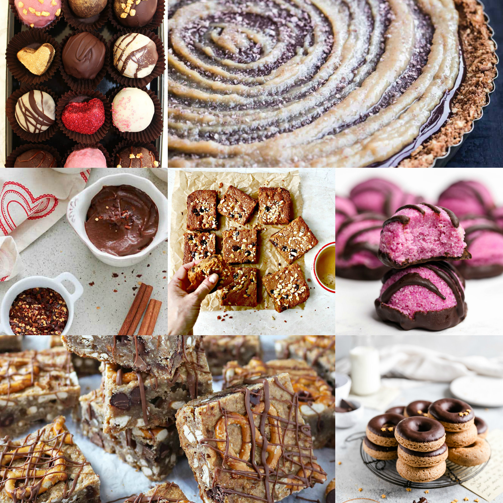 62 healthier chocolate recipes roundup collage