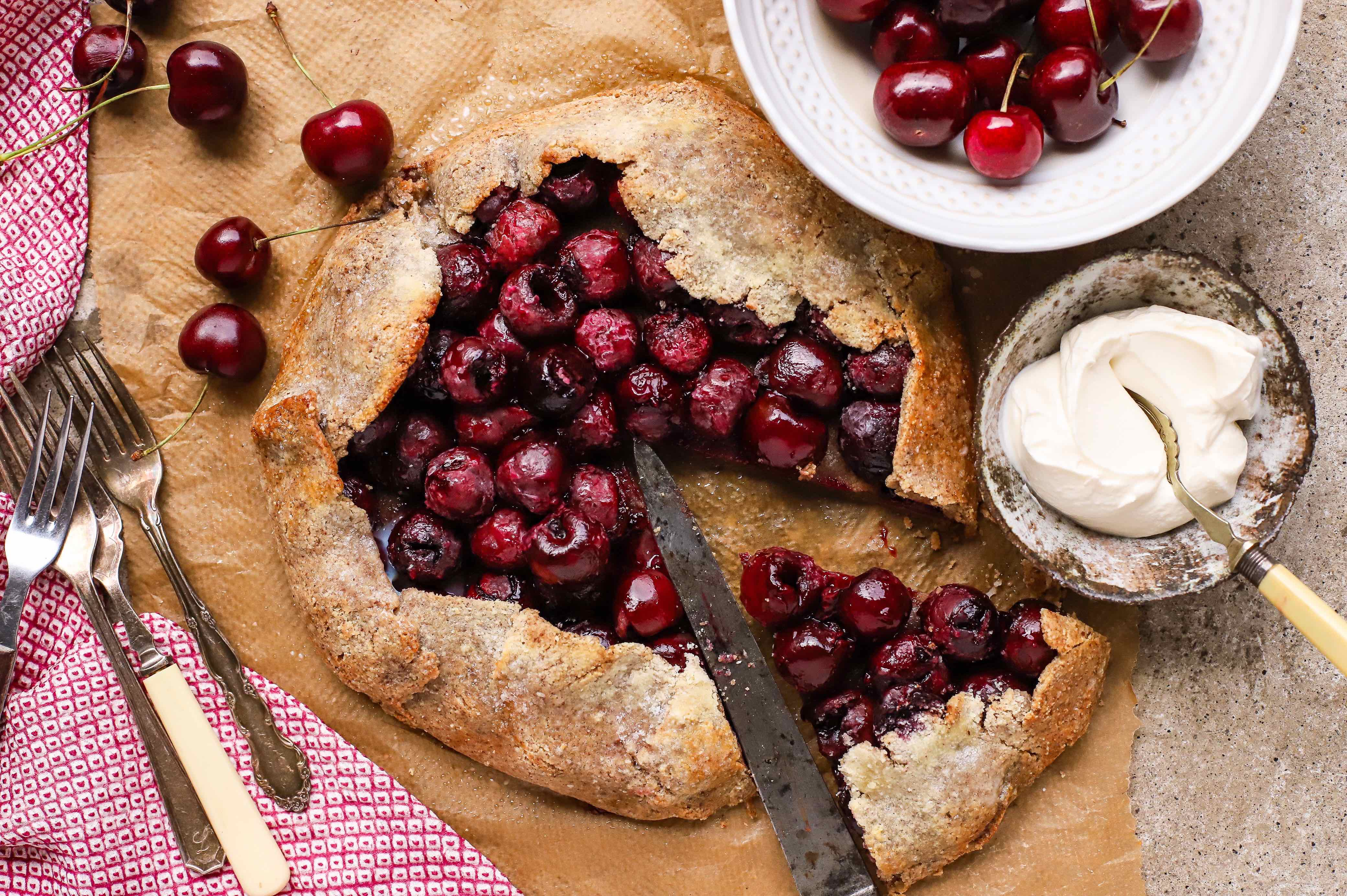 cherry bakewell galette