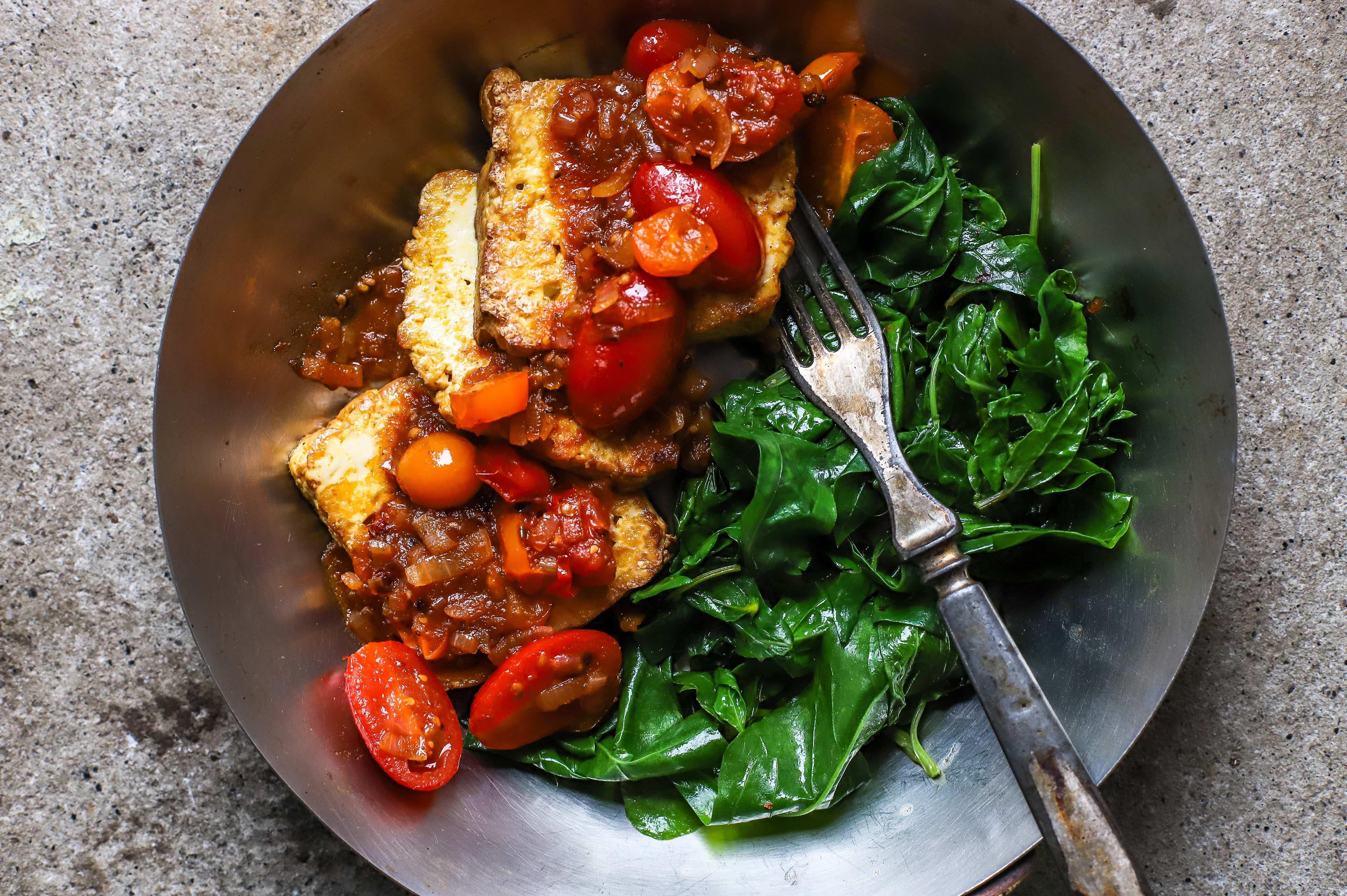 tangy tomato tofu